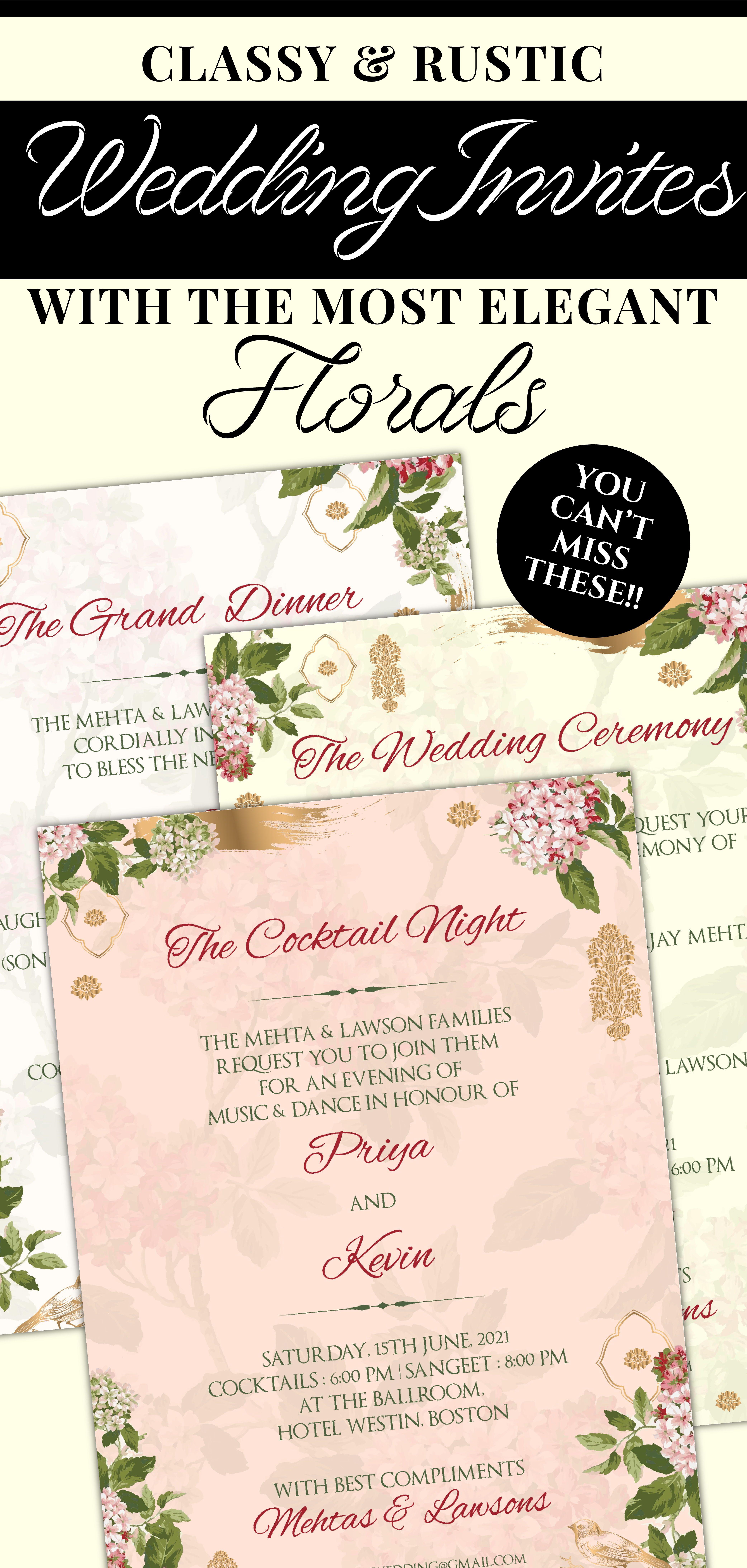 Wedding Invites Boho As Boho Flower Wedding Card Garden Boho Etsy Indian Wedding Invitations Indian Wedding Cards Wedding Cards