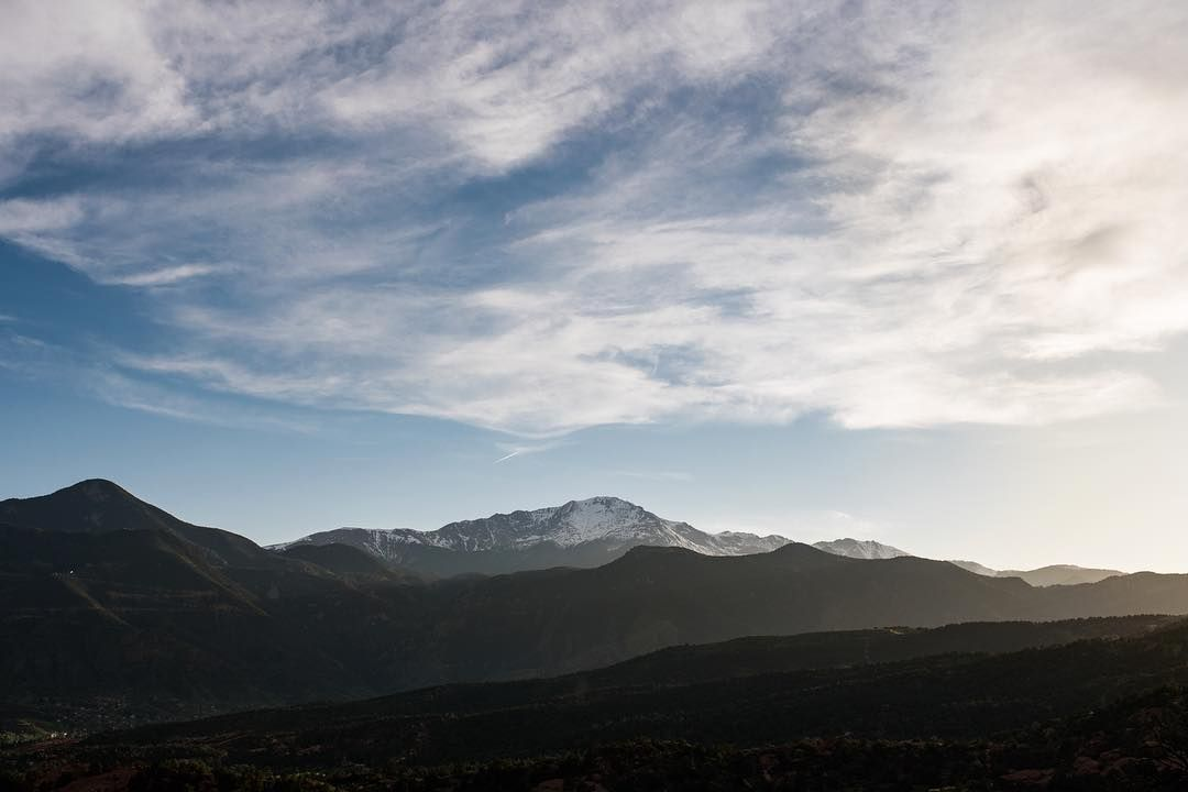 What an incredible weekend. So many photos to post from the past few weeks...but for now here's the view from last nights engagement session with Leah and Josh. Pikes Peak from Garden of the Gods.  Nikon D750  Sigma 35 Art by nealdieker http://bit.ly/AdventureAustralia