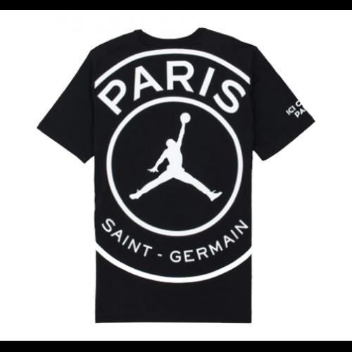 42b8c0d0e3b8 18-19 PSG X JORDAN LOGO T Shirt-Black