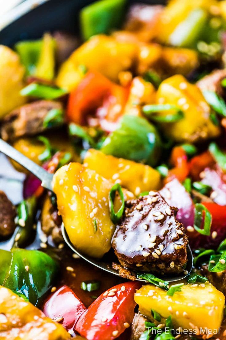 Photo of Pineapple Pork Stir Fry (25-minute recipe!)