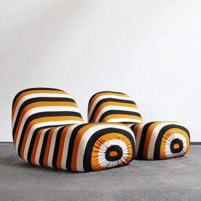 Pierre Cardin; Lounge Chairs for Racine, 1960s.