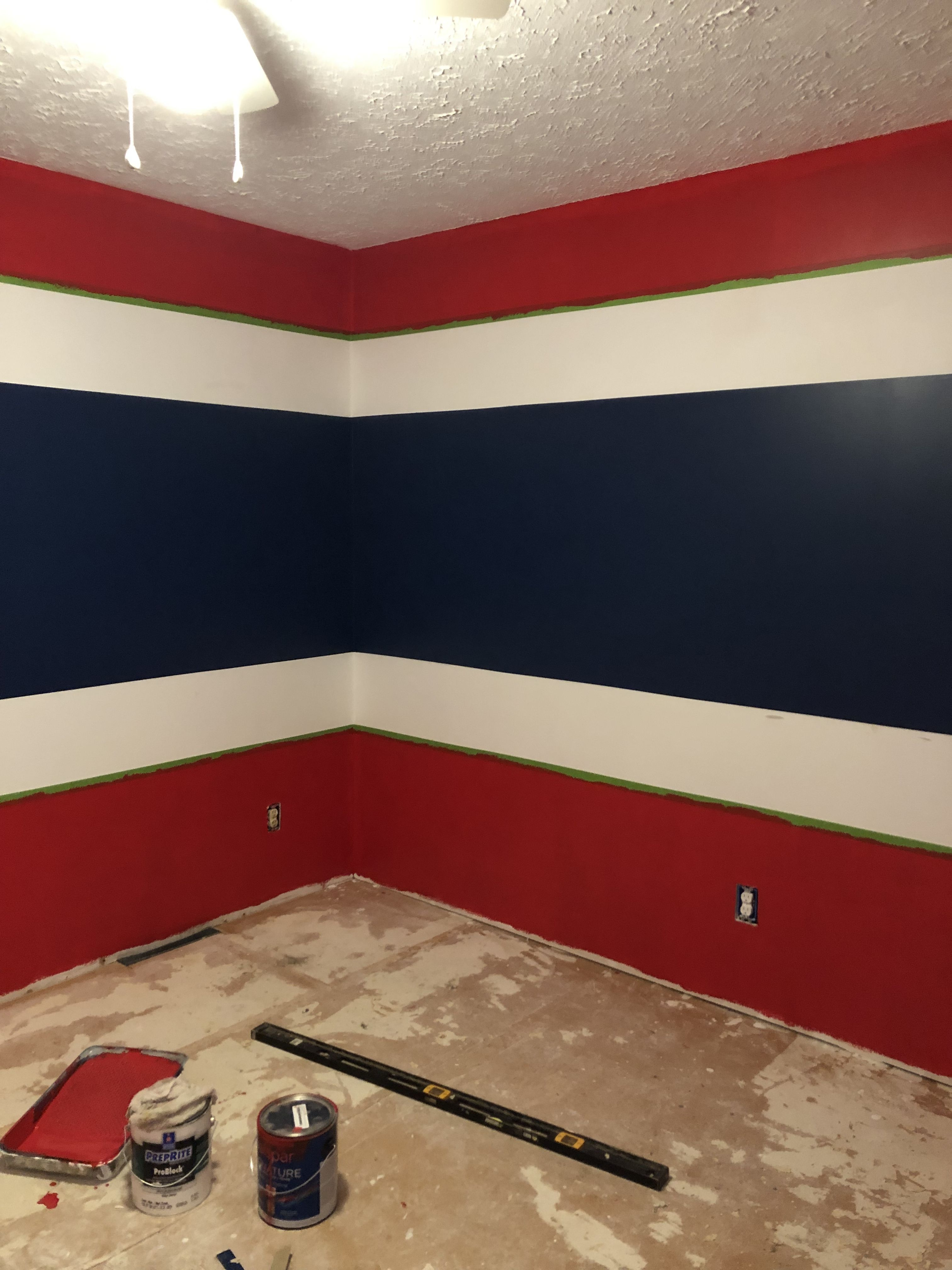 Red White And Blue Bedroom Boys Room Blue Boys Blue Bedroom Decor Red Boys Bedroom