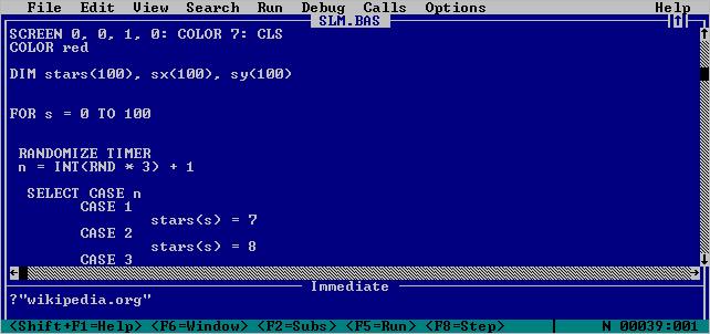 Introduction To QBasic - Pete's QBASIC / QuickBasic Site