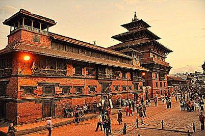 Patan Durbar Square at evening Patan, Nepal
