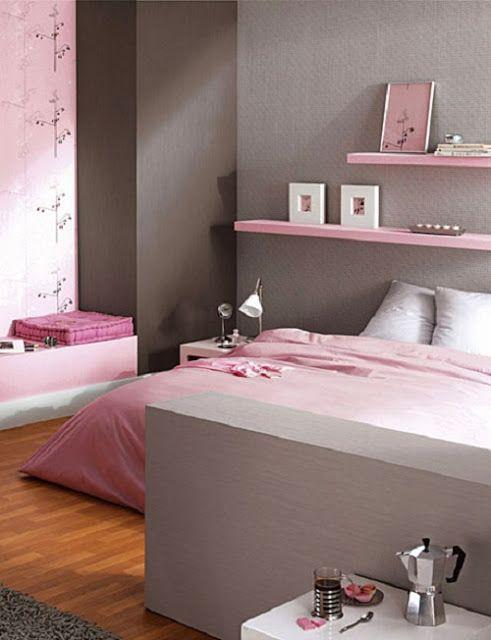 Paleta de colores de hoy gris y rosa decoideal dormitorios recamara decoracion recamara Colores para habitaciones juveniles femeninas
