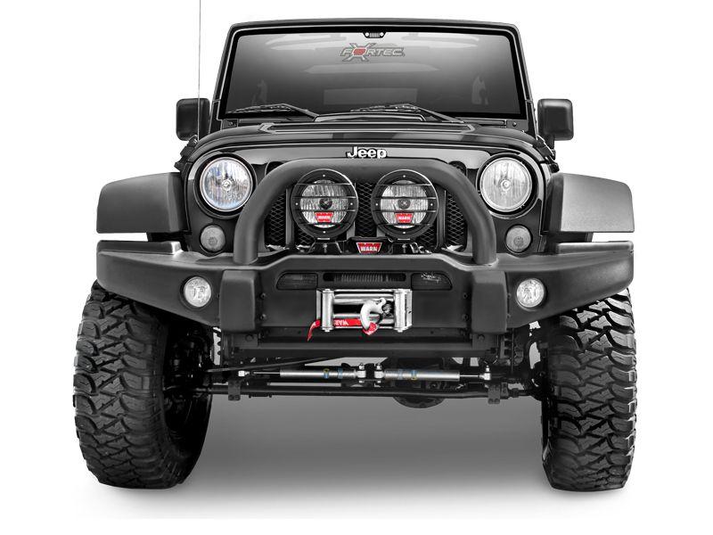 AEV Premium Front Bumper In Textured Black For 07 Up Jeep® Wrangler U0026  Wrangler