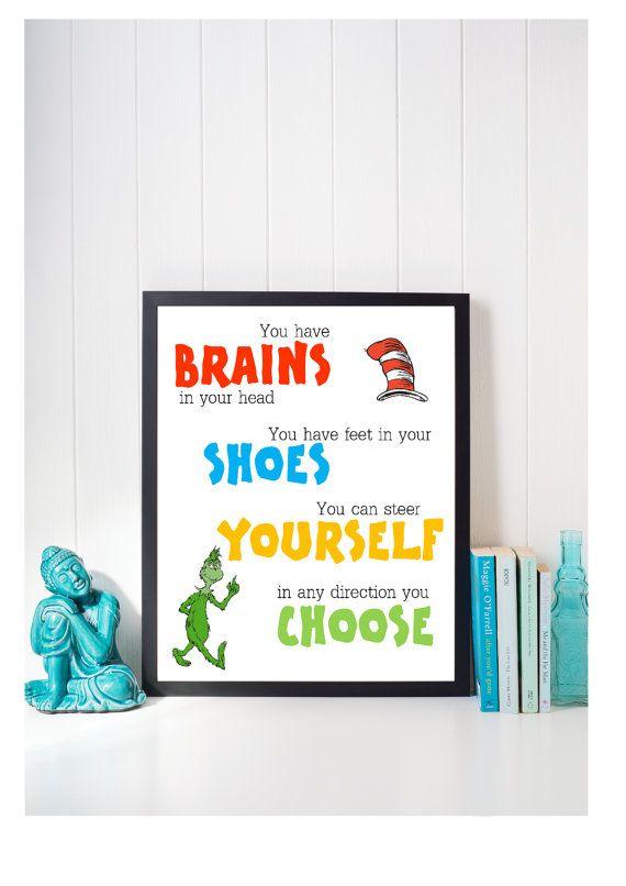 Dr Seuss 8x10 Nursery Art Digital Gift Kids By Thepaperartistco