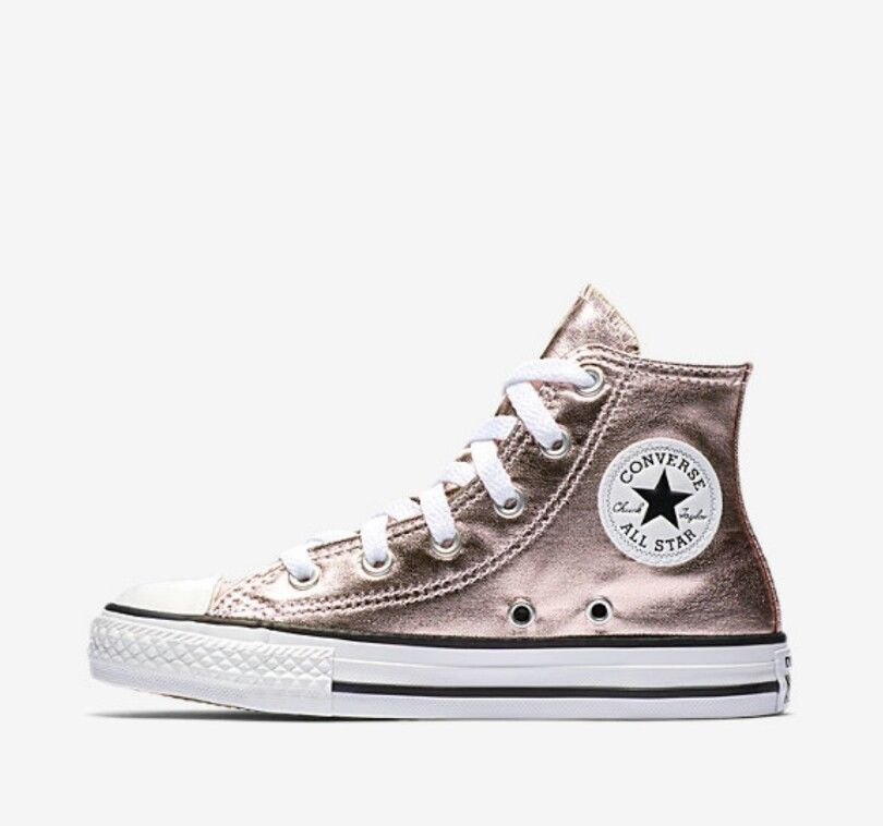 Converse Chuck Taylor All Star Girl's Sneakers Metallic High