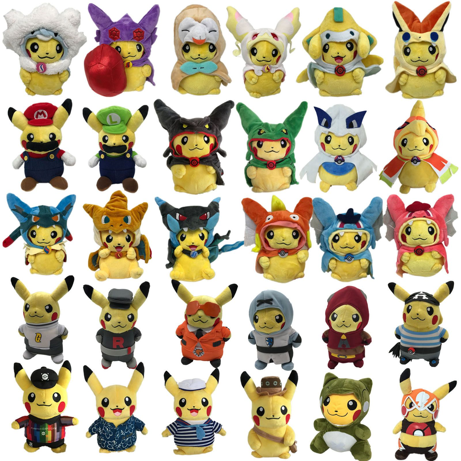 Haircut styles in pokemon sun and moon  gbp  pokemon go sunmoon plush costume cosplay pikachu soft