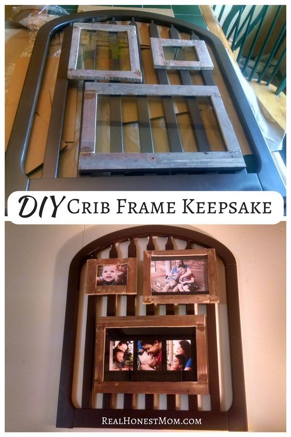 Diy Repurposed Crib Crib Repurposed And Husband Surprise
