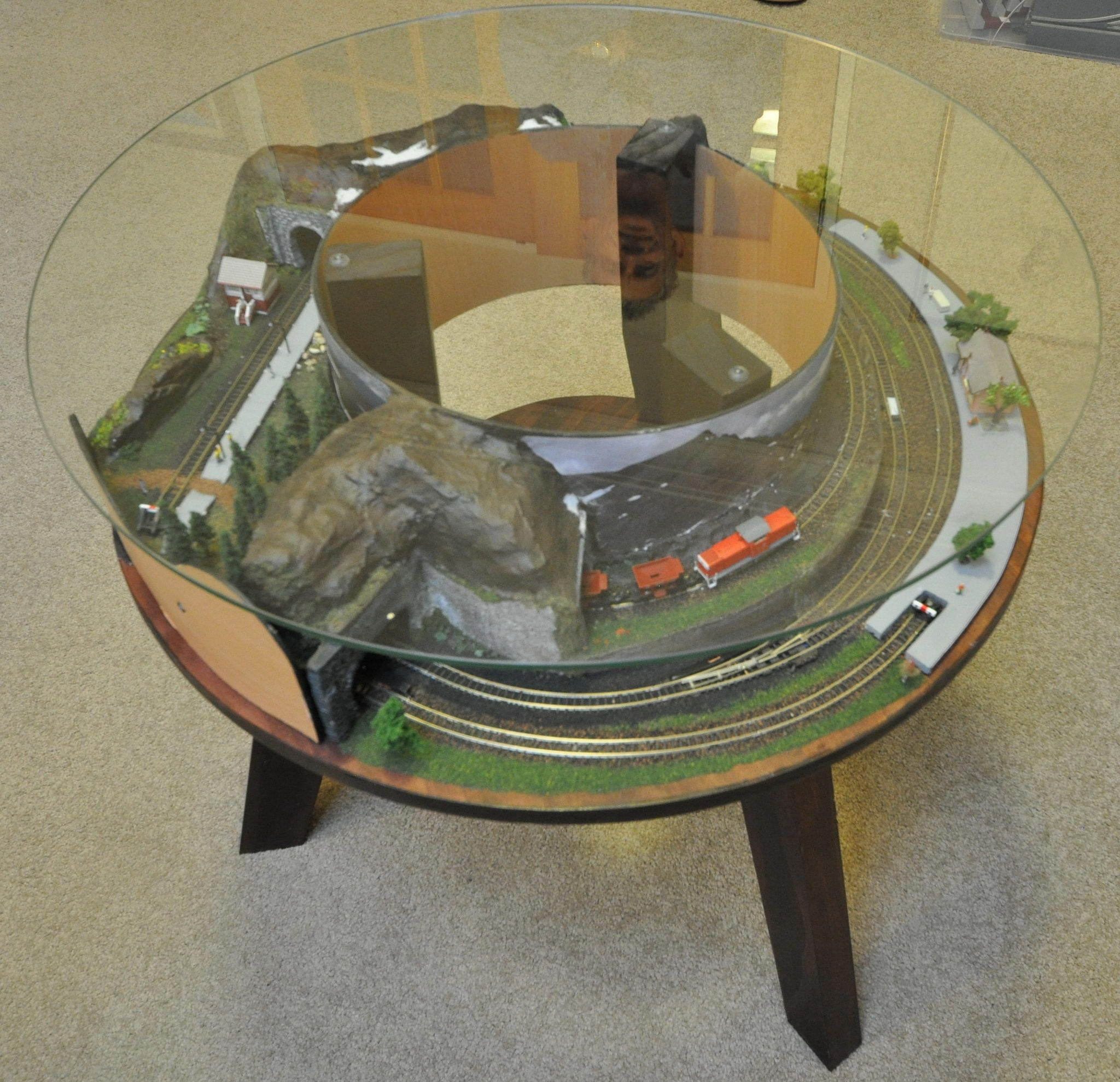 Coffee Table Z Scale Train Sets 1