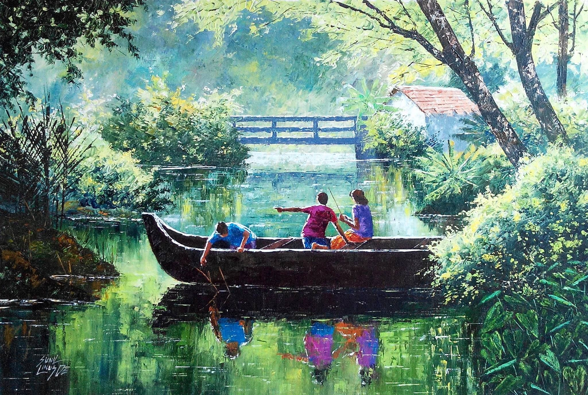 Sunil Linus De Indian Artist Scenery Paintings Watercolor