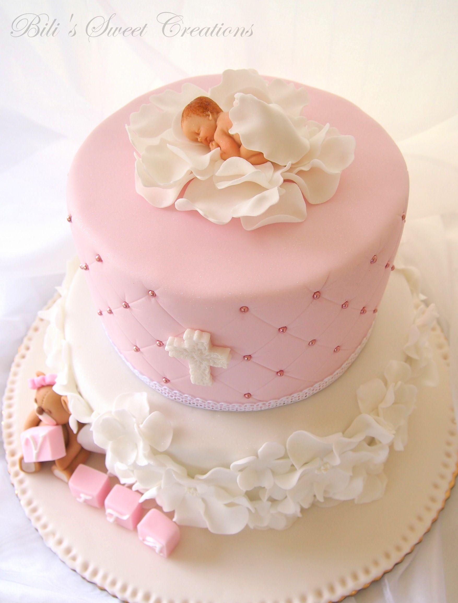 Christening Cake With Images Christening Cake Girls Baby