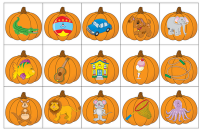 FREE!  Matching beginning sounds/letters with a pumpkin theme!