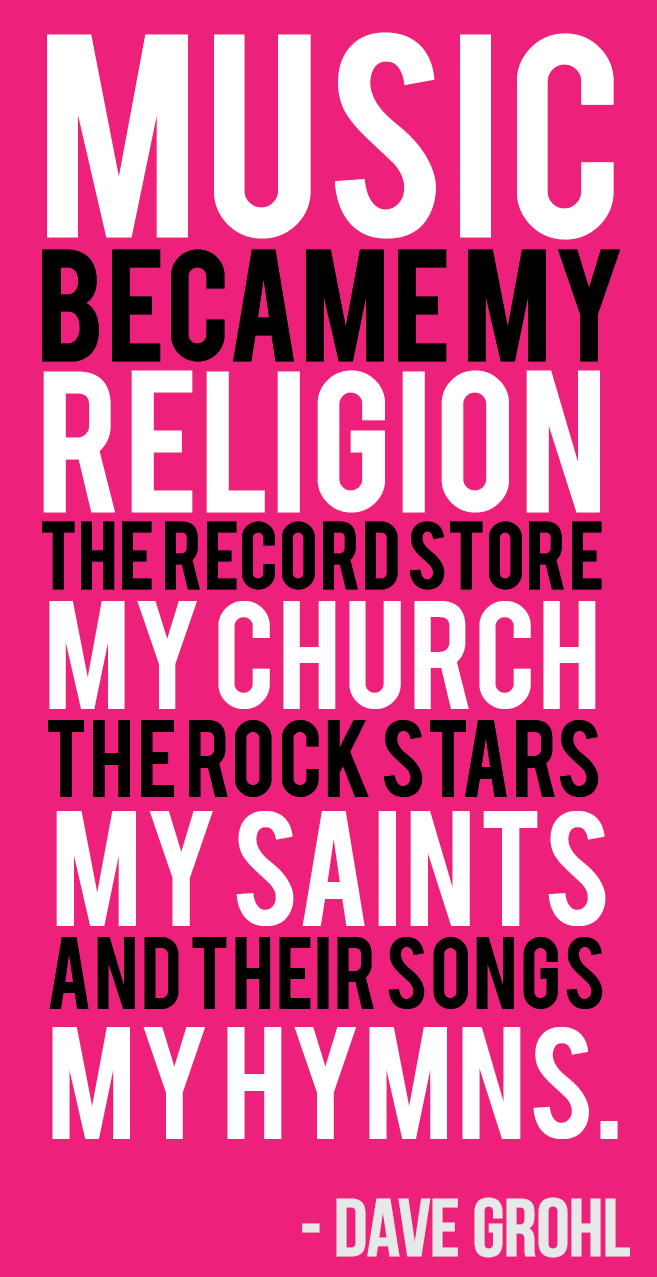 Rock and roll forever quotes quotesgram - Music My Religion The Record Store My Church The Rock Stars