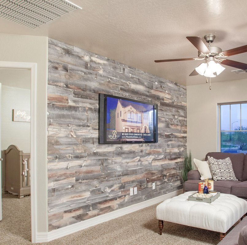 "Temporary Wood Paneling Accent Wall: 5"" Solid Reclaimed Wood Wall Paneling In Cody"
