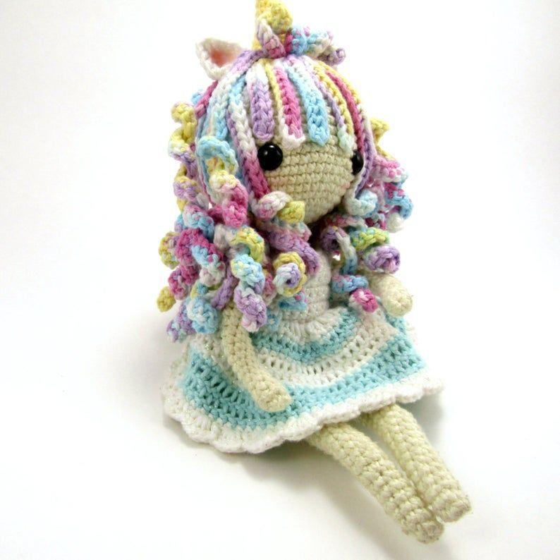 Crochet Unicorn Girl Doll Amigurumi Free Pattern | 794x794