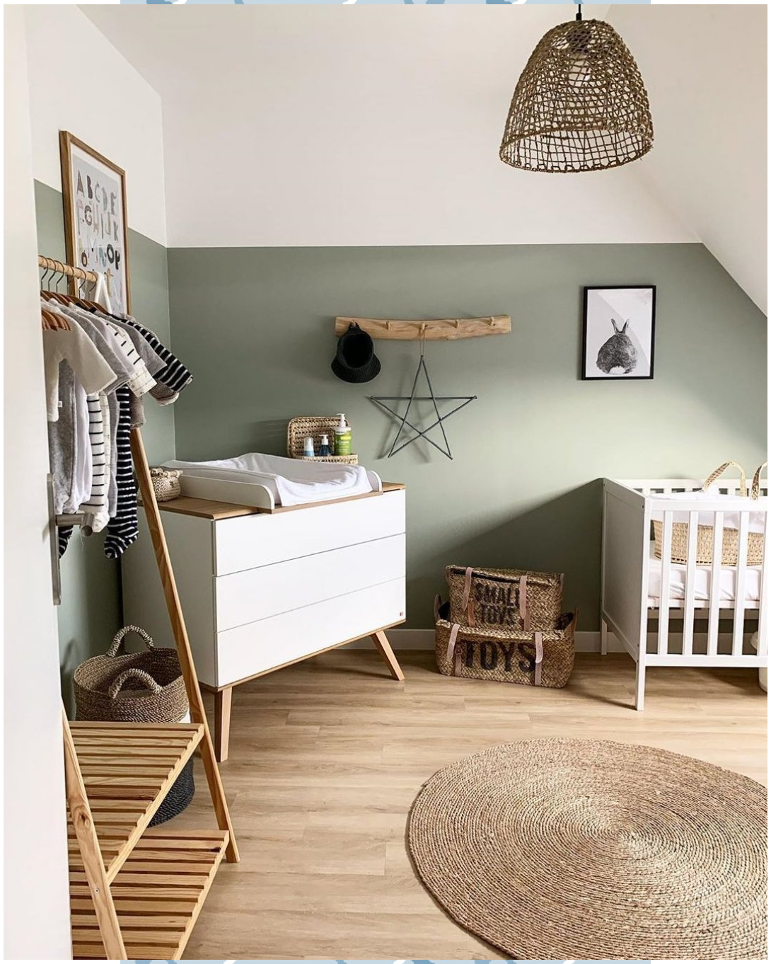 Photo of Willow Green Nursery #sweetcars #green #nursery #sweetc | Babyzimmer Mobel Korbwiege