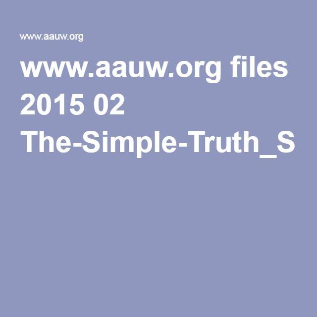 wwwaauworg files 2015 02 The-Simple-Truth_Spring-2015pdf