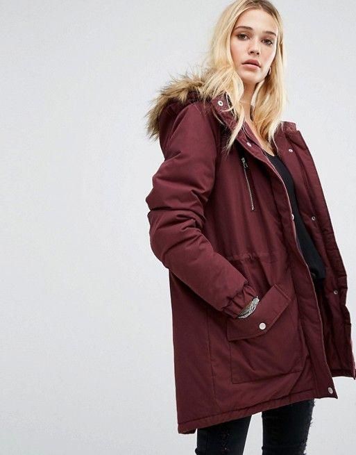 Olive Noisy May Tally Long Jacket Ladies Jackets