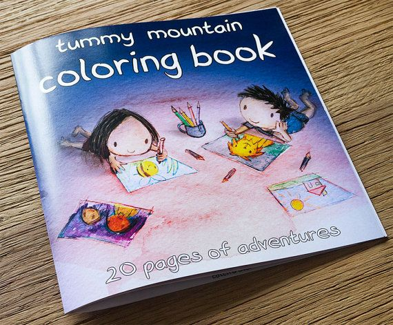 Colouring Pages Boy Girl : Tummy mountain coloring book colouring book kids gift cute