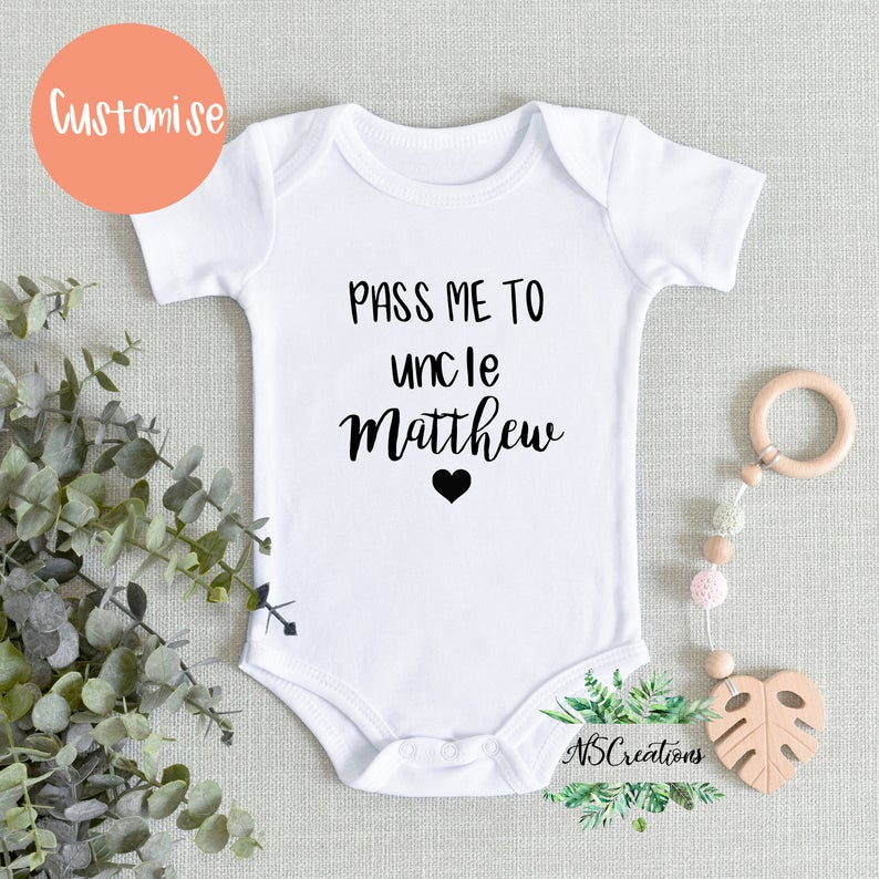 Baby Announcement Lil Bro  Personalised Baby Onesie - Pregnancy Announcement Onesie Baby Shower Gift