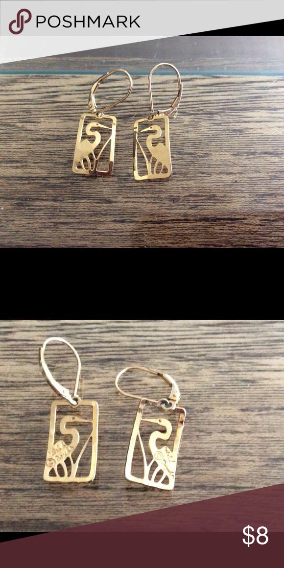Wild Bryde Earrings : bryde, earrings, Bryde, Plated, Egret, Earrings, Earrings,, Plate,, Charm, Bracelet