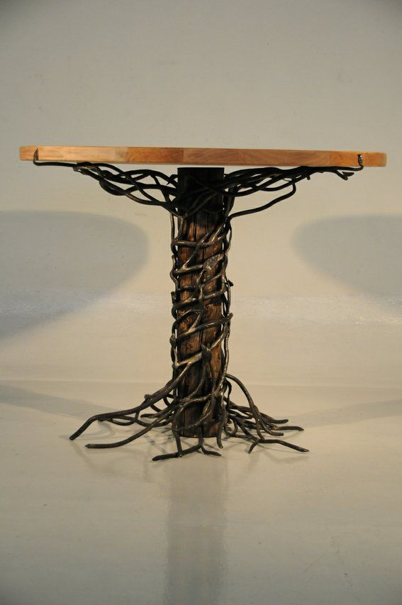 Custom Made Iron And Wood Entry Table By Artesano Iron Works Home