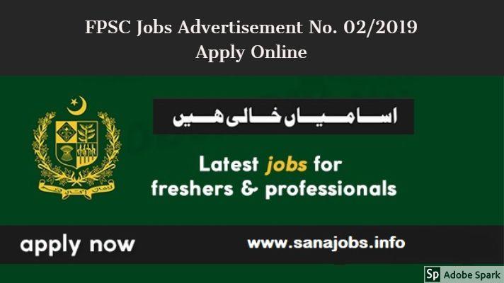 Ffpsc Calendrier 2019.Fpsc Jobs 2019 Apply Online Fpsc Jobs Advertisement No 02