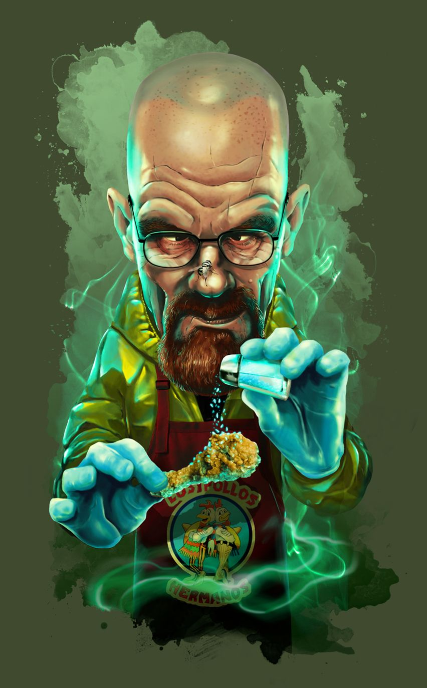 Walter white green apron - Walter White By Oscar Tello Mart N In Madrid Spain Available On Design By Humans