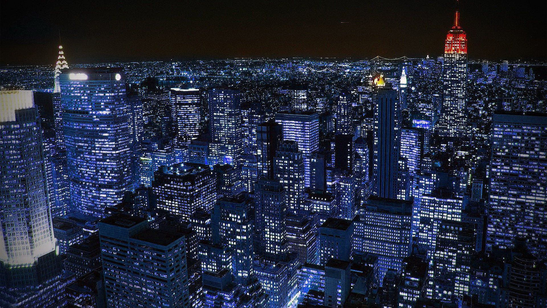 New york city at night new york pinterest city for New york 3d wallpaper