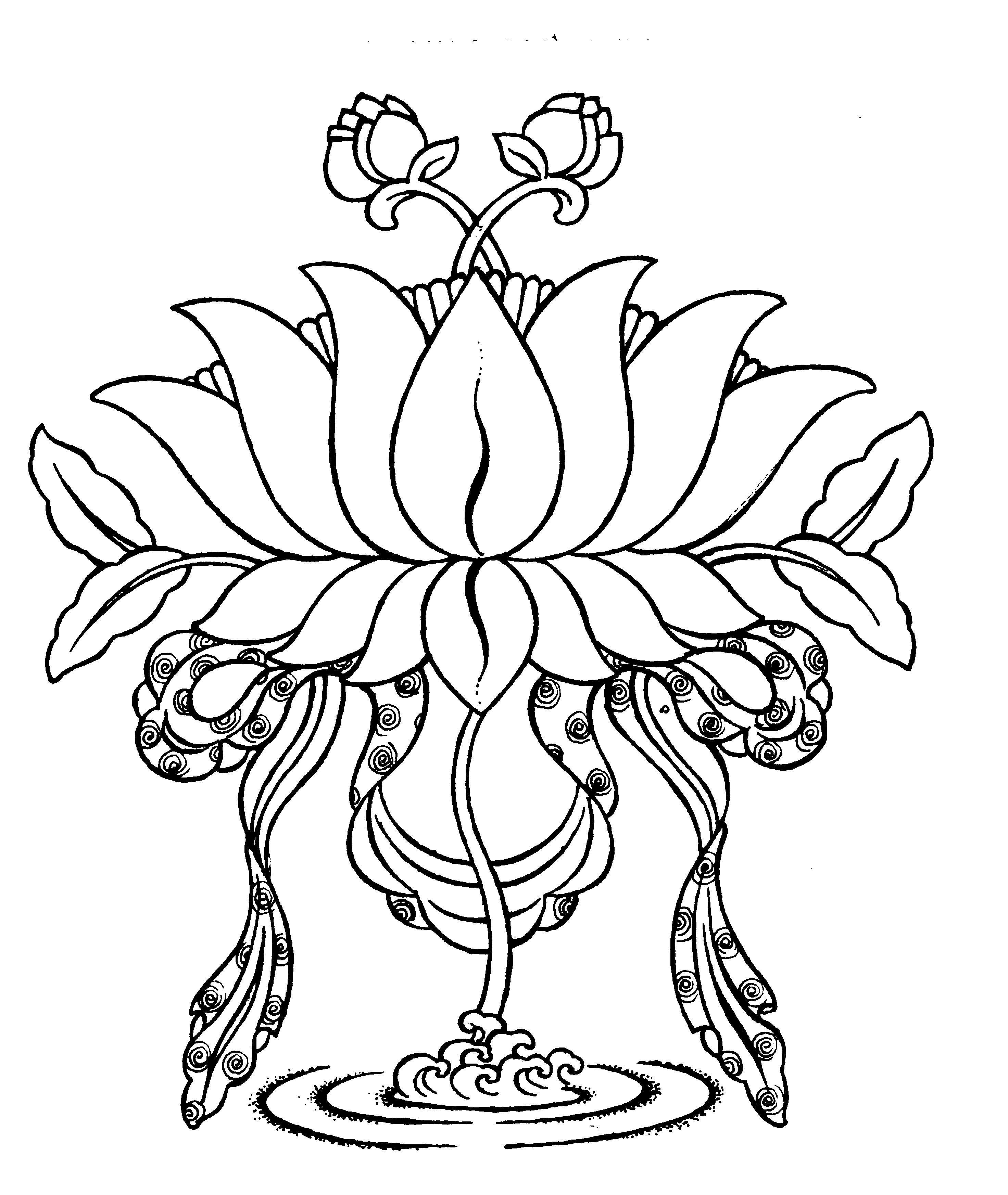 Image result for buddhist lotus flower drawing jewellery murals
