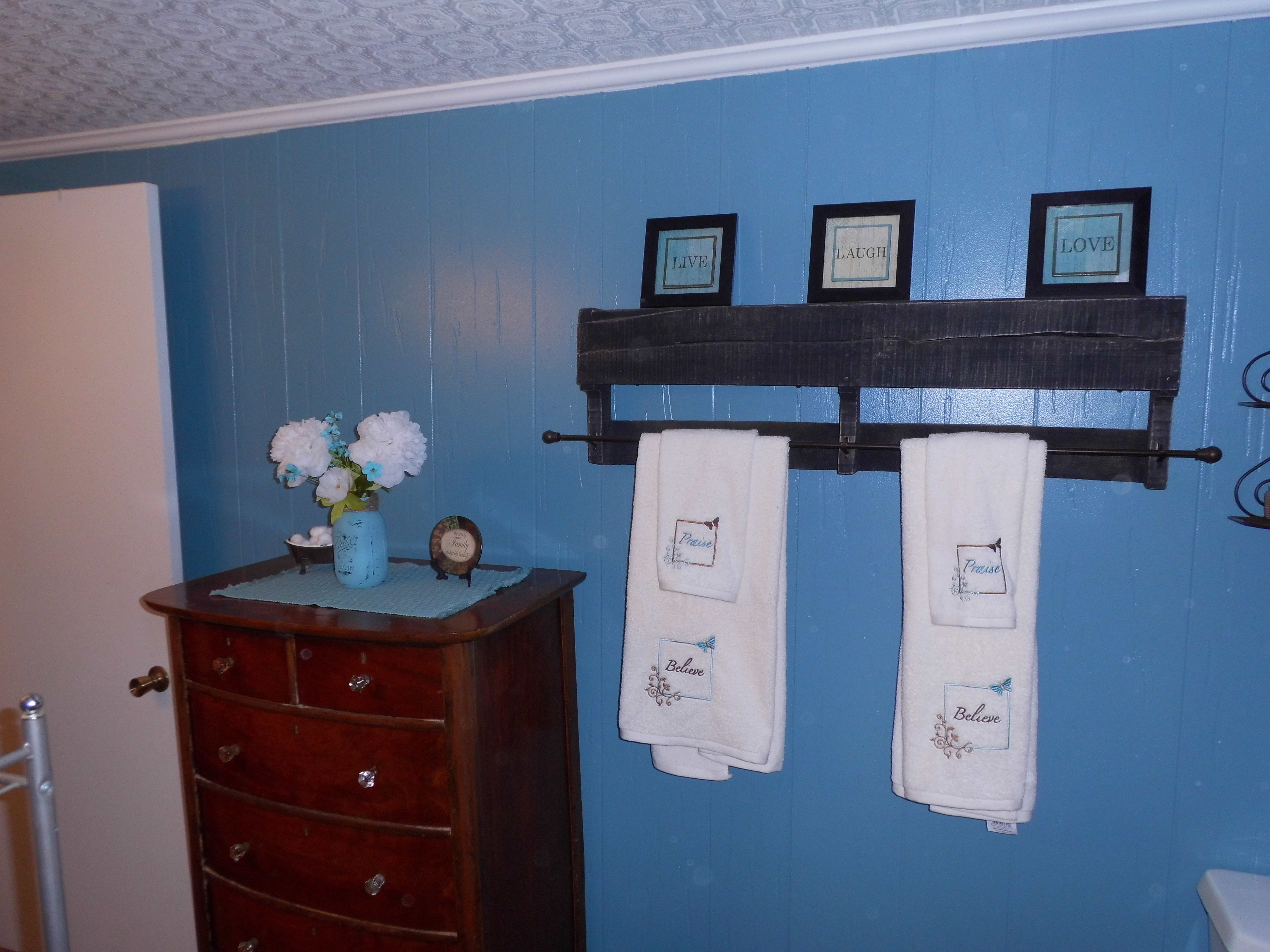 Bathroom Paint Color Is Mountain Stream By Sherwin Williams