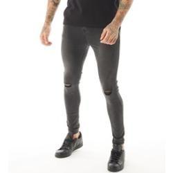Photo of Closure London Herren Ripped Skinny Jeans Verwaschenes Grau
