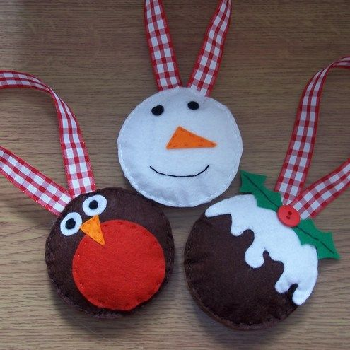 Handmade Felt Christmas Decorations   Christmas crafts to ...
