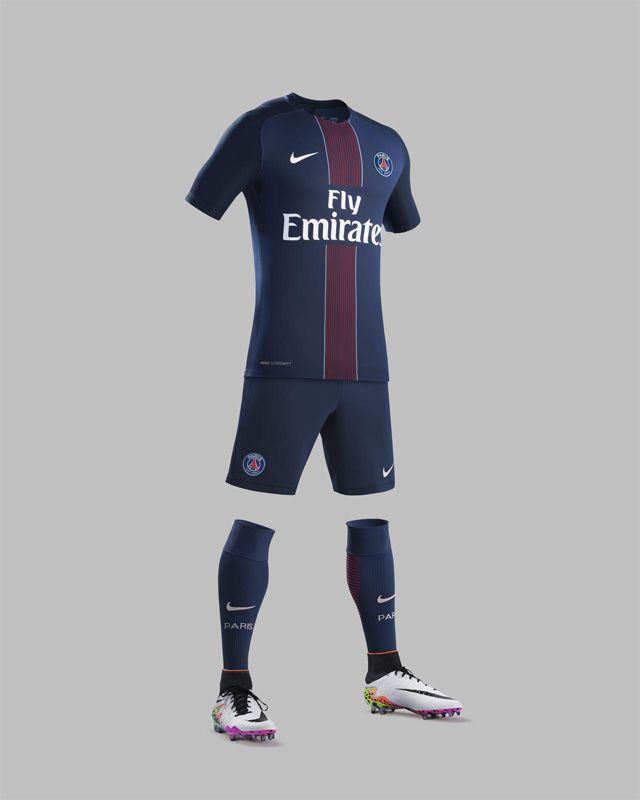 Camisas do PSG 2016-2017 Nike all kit 4d77df9de3e27