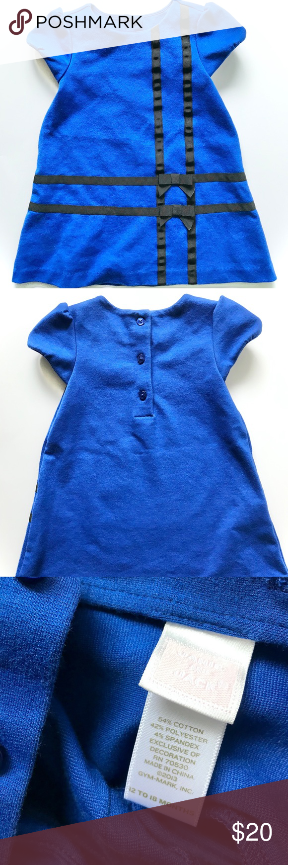 Janie and Jack, blue & black 12 month party dress. Janie and Jack party dress. New condition but without tags. 12 month dress. Janie and Jack Dresses Casual #fashiondresses