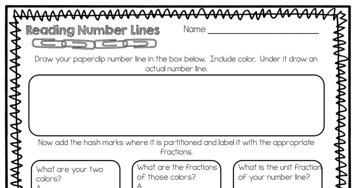 Number Line Fractions Freebie.pdf Teaching fractions