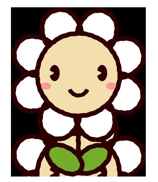 かわいい顔の花イラスト Cute Favorite2019 無料 イラスト 素材