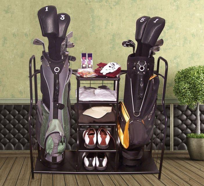 Golf Organizer Club Bag Holder Storage Rack Accessories Shoes Putter  Equipment