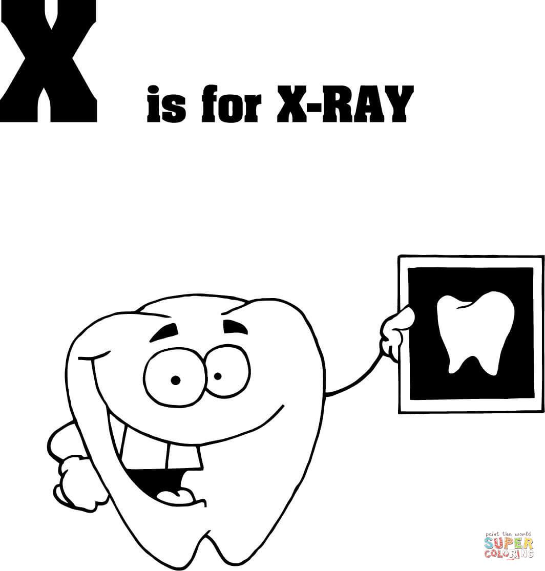 letter x is for x ray coloring page from learn english alphabet  u0026quot letter is for u0026quot  set iii category
