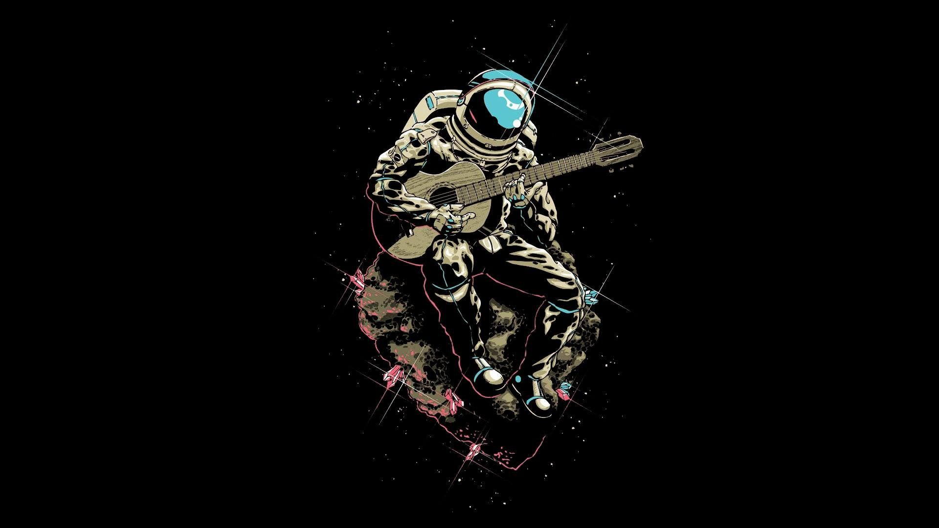Astronaut Plays Guitar High Def Wallpaper Pinterest Astronaut
