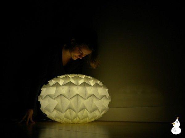 Studio Snowpuppe Lamp : Lampen van stof en gevouwen papier van studio snowpuppe let