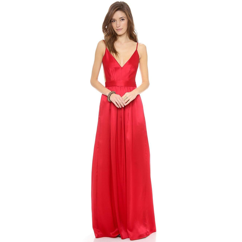 Women boho maxi dresses v neck backless party casual dresses braces