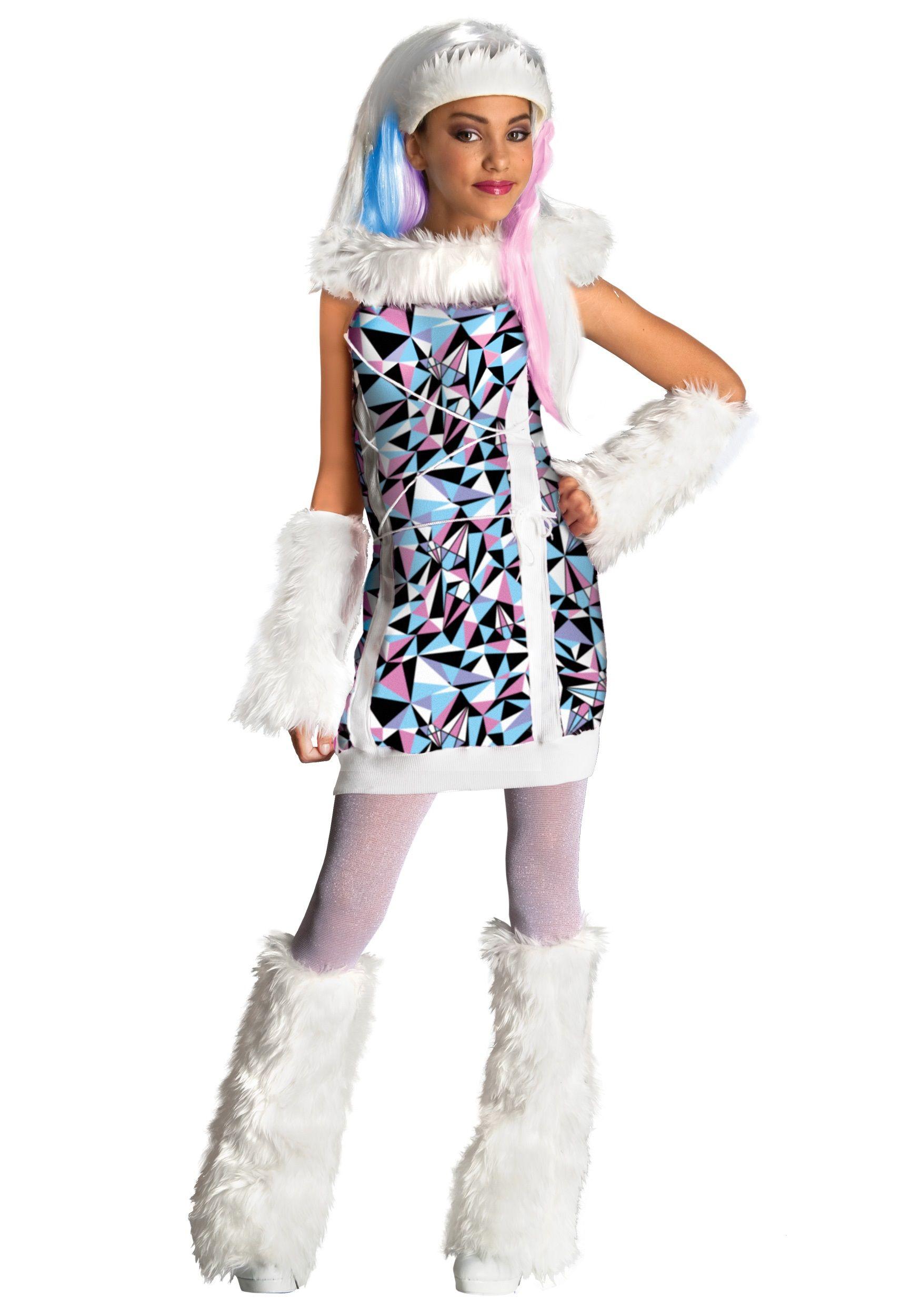 monster high costumes for girls | monster high abbey bominable girls