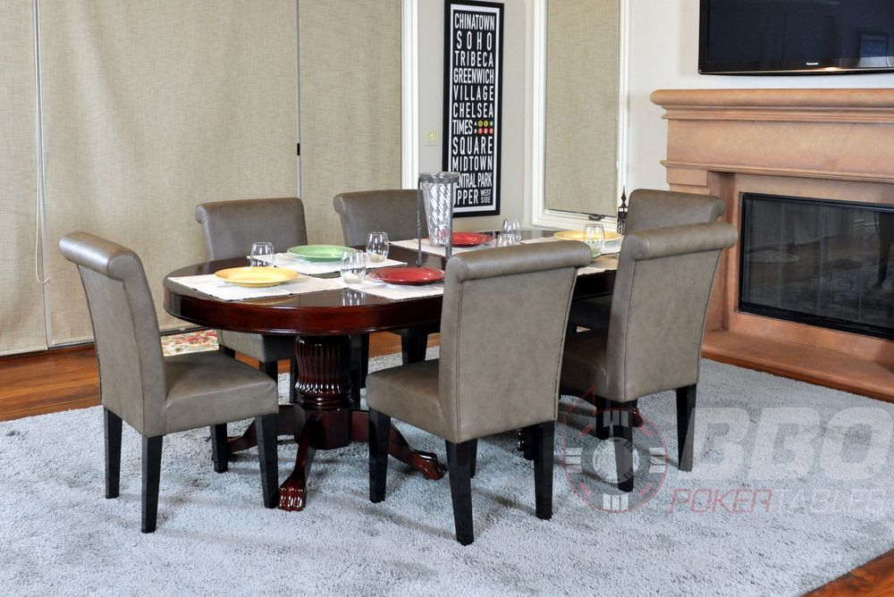 Poker Table With A Convertible Dining Top And Built In Cupholders Includes 6 Complementing Chairs Product Poker
