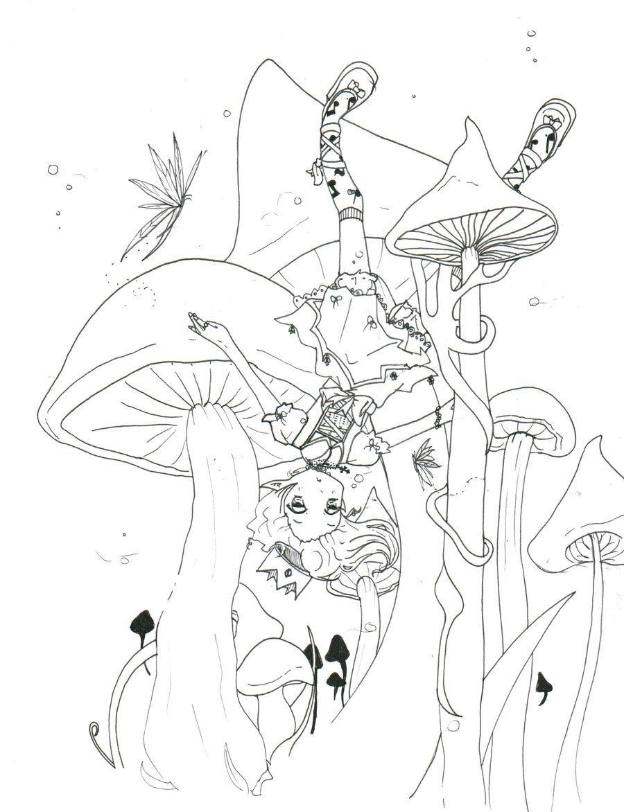 Mushrooms Coloring pages colouring adult detailed advanced printable Kleuren voor volwassenen coloriage pour adulte anti-stress kleurplaat voor volwassenen