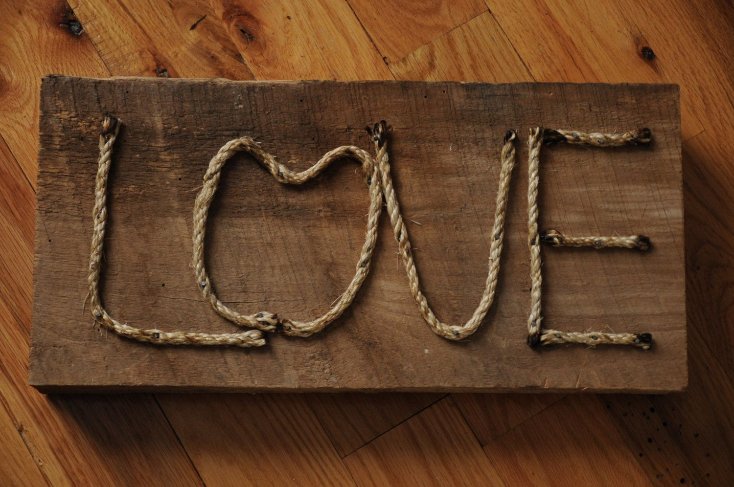 Love Rope Wooden Reclaimed Barn Board Sign Barn Board Signs Barn Board Woodworking Crafts