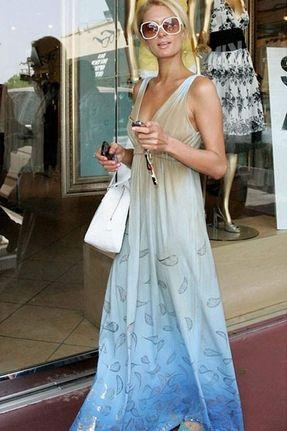 Paris Hilton in Gypsy 05 Liza Maxi Dress