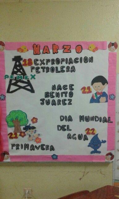 Periodico mural marzo frisos pinterest bulletin for Diario mural escolar